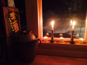 candles and crock