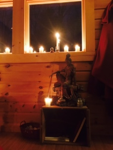 Kwan Yin by candle light